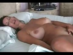 Busty Hairy Milf in Her Bed