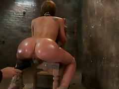 Throat Fucking and Anal Toying for Tied Up Girl Amy Brooke