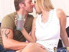 Big tittied Devon Lee enjoys rough pussy pounding in a bedroom