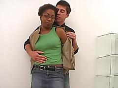 Amateur ebony girl gets fucked with an increment of gets jizzed on her soul
