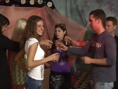 Cute chicks are banging during an insane party