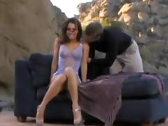 Juicy Vanessa Lane Goes Hardcore Outdoors With A Tasty Dude