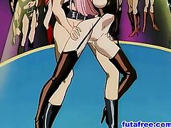 Cruel futababe instructed her slave to fuck