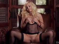 Delightful Aaliyah Love Masturbates With A Pink Dildo In Solo Model Clip