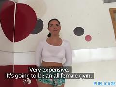 PublicAgent: Fit British women gets fucked in her new gym