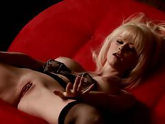 Blonde Emily Addison undresses so sexy