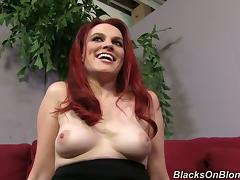 Appetizing Andrea Sky Sucks A Big Long Black Shaft