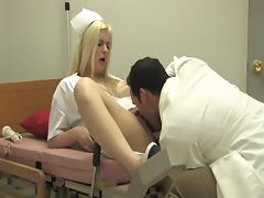 A kinky nurse is getting her doctor's big cock