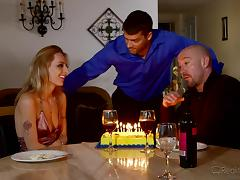 birthday party and sex with his wife and a friend