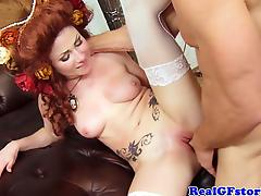 Hot petite milf housewife nailed rough