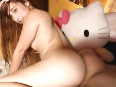 Cute teen Susana playing with her cunt online