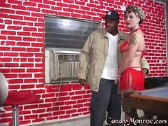 Big black cock for a kinky blond star Candy Monroe