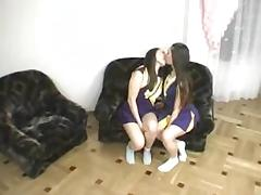 Cheerleading lesbo twins -