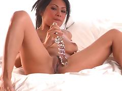 Asian babe Cassandra Cruz and her dildo
