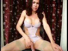Huge cock Shemale playing