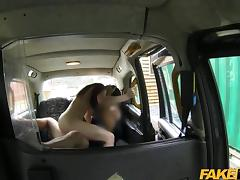 YOUNG naughty englishwoman in a taxi