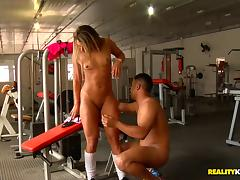 Gym videos. Even a gym becomes a suitable area for fucking if you are aroused to the max