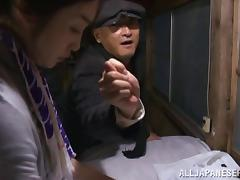 Naughty mature asian housewife gets hot rear banging