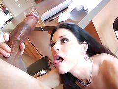 India Summer sucks a black huge dick hardcore in interracial bang scene