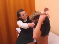 Hairy Granny In Stockings Fucked